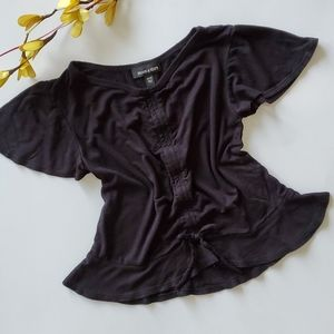 Moon and Stars Black Top